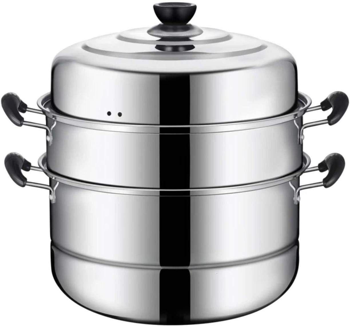 Beeiee Steaming Cookware, Steamer Pot, Multi-layer Boiler, 11 Inch Stainless Steel Steamer, 10Qt