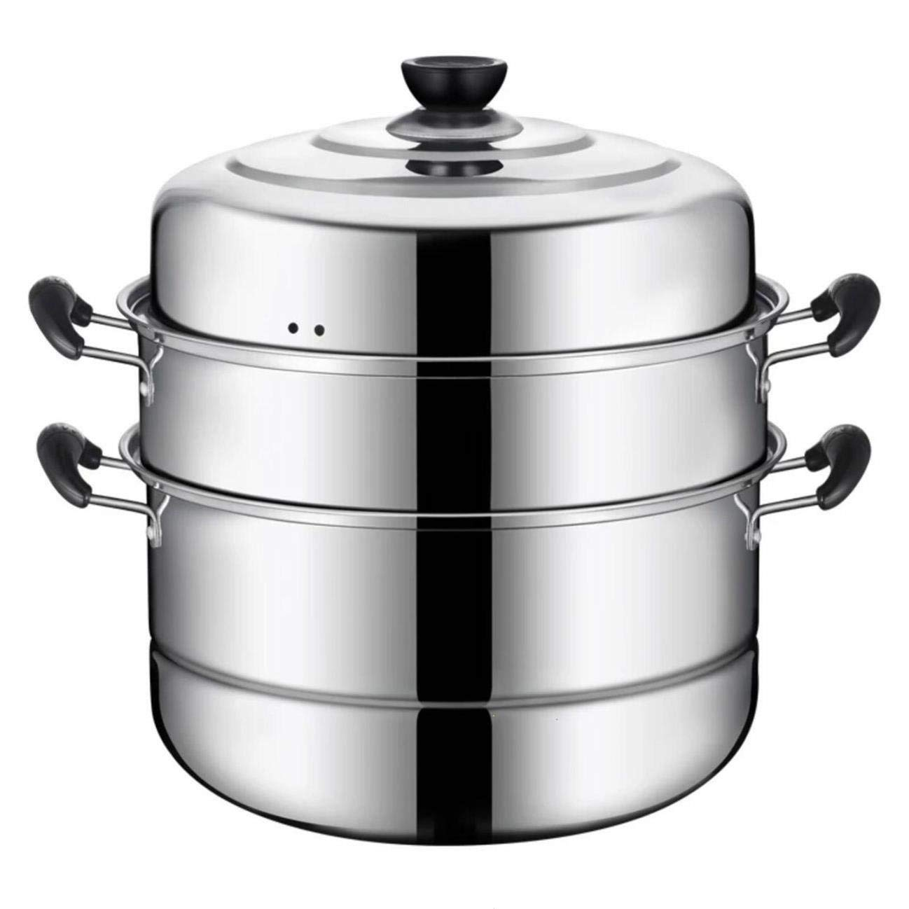 VONOTO Stainless steel Thicken Three floors 3 Tier 11'' Steamer Cookware Pot Sauce pot Multi-layer Boiler (Three Floors 11'') by VONOTO