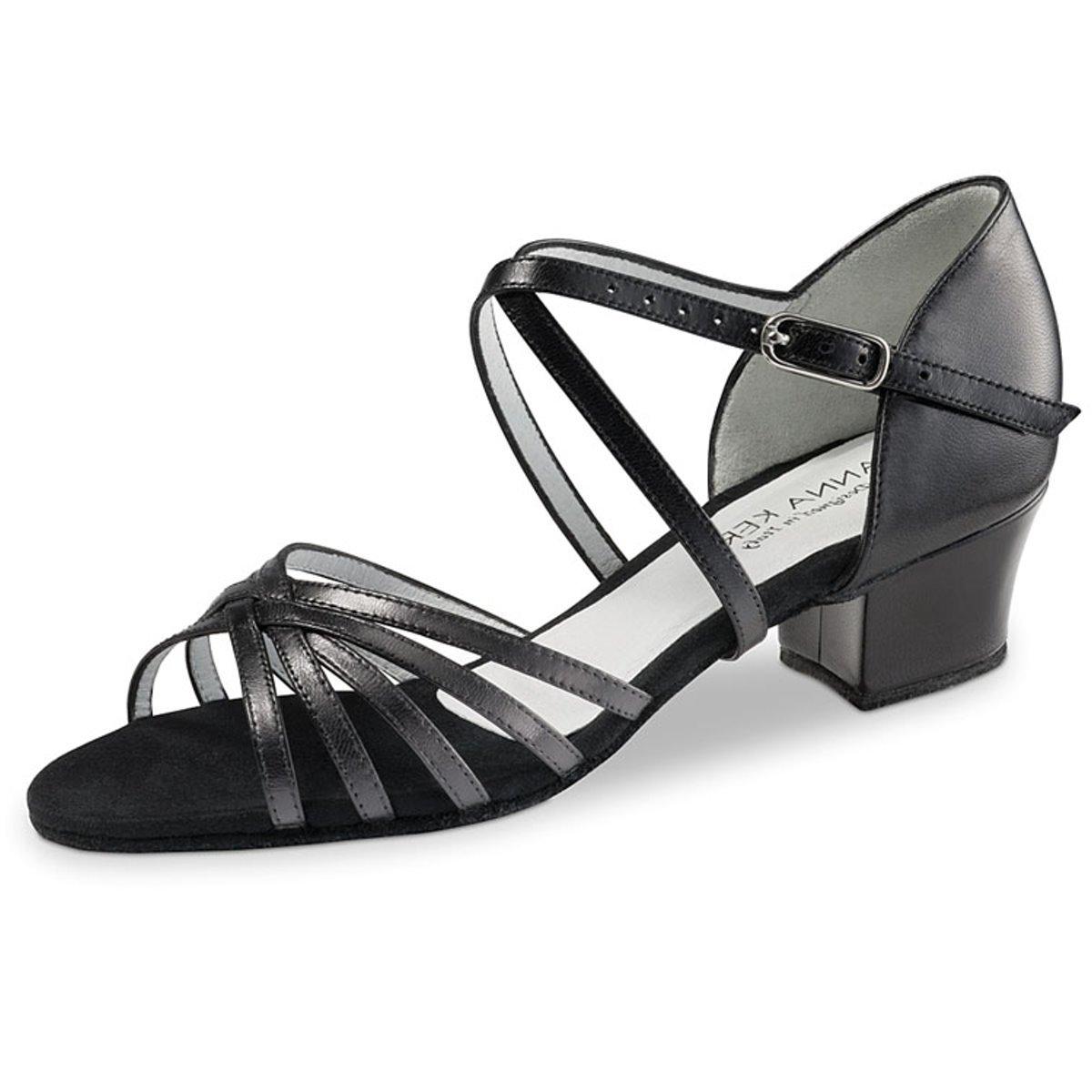 Anna Kern Femmes Chaussures de Danse 581-35 - Cuir Noir - 3, 5 CM
