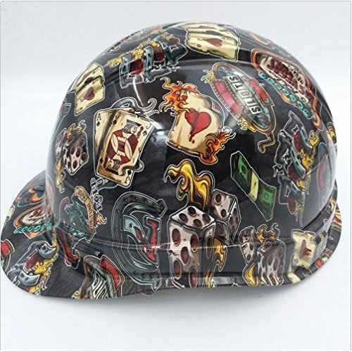 Wet Works Imaging Customized Pyramex Cap Style Wicked Gambler Lucky 7 Hard Hat With Ratcheting Suspension