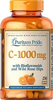 Vitamina C con bioflavonoides y rosa silvestre, 1000 mg 250 Comps