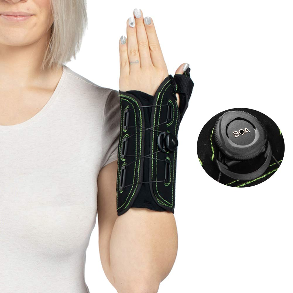 Thumb and Wrist Spica Splint with Advanced Boa Technology Brace for Arthritis, Tendonitis, Carpal Tunnel Syndrome Pain Relief-Left Hand Small by Moscare