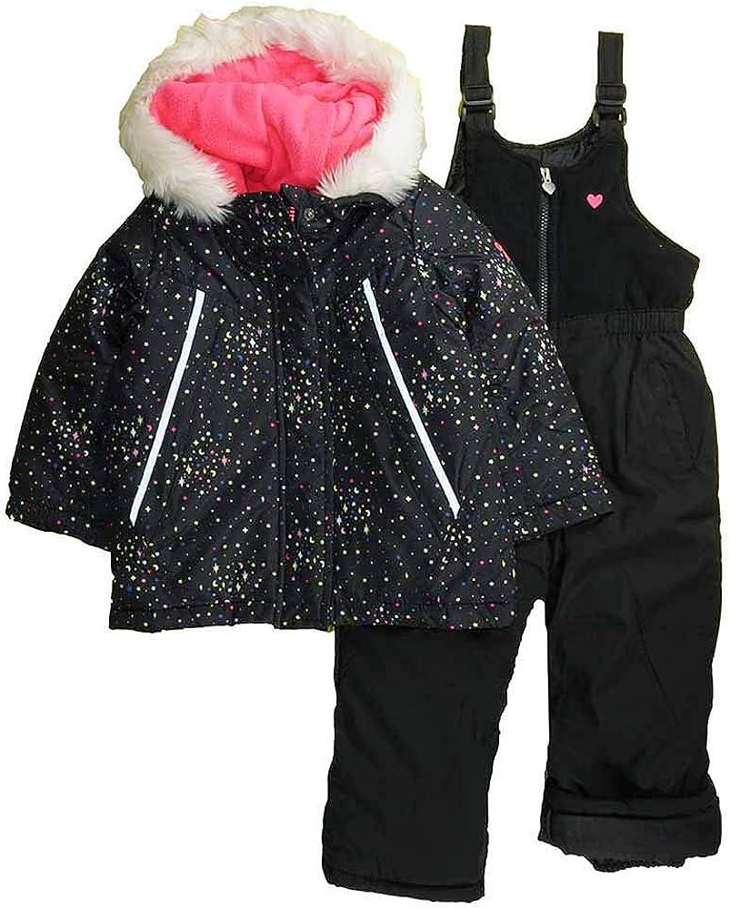 OshKosh BGosh Girls Printed Heavey Weight Winter Coat and Snow Pants