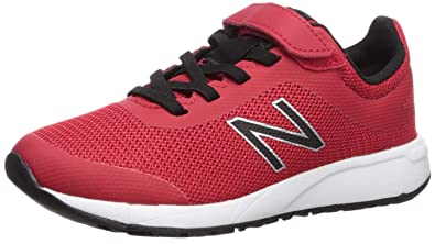 1b274e1b375e5 New Balance Boys' 455v2 Hook and Loop Running Shoe, Team RED/Black, 5 W US  Toddler