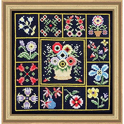 Herrschners® Flowers All Around Counted Cross-Stitch Kit