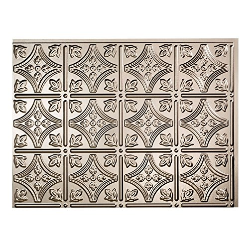 Fasade Easy Installation Traditional 1 Brushed Nickel Backsplash Panel for Kitchen and Bathrooms (18 sq ft Kit) by Fasade