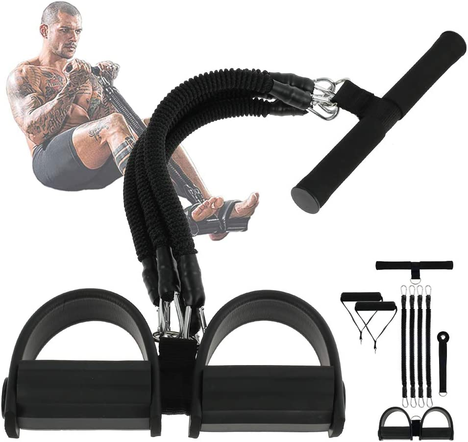 Multi-Function Foot Pedal Rope Pull Bands Tension Rope Fitness Pedal Exerciser
