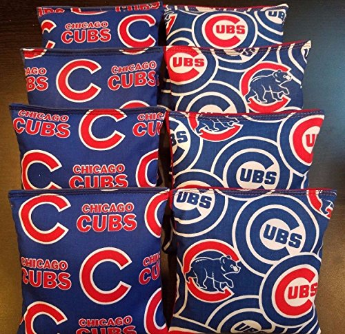 - All Weather Cornhole Bean Bags made w Cubs Fabric Waterproof!