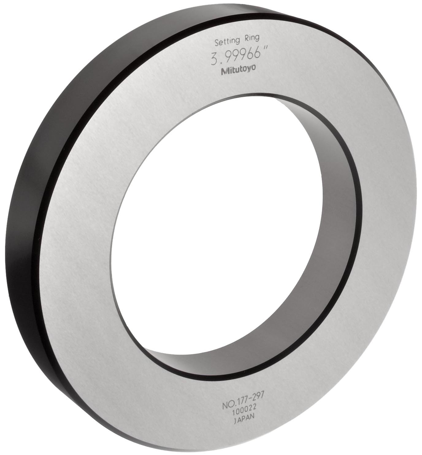 Mitutoyo 177-297 Setting Ring, 4'' Size, 0.98'' Width, 6.3'' Outside Diameter, +/-0.00008'' Accuracy