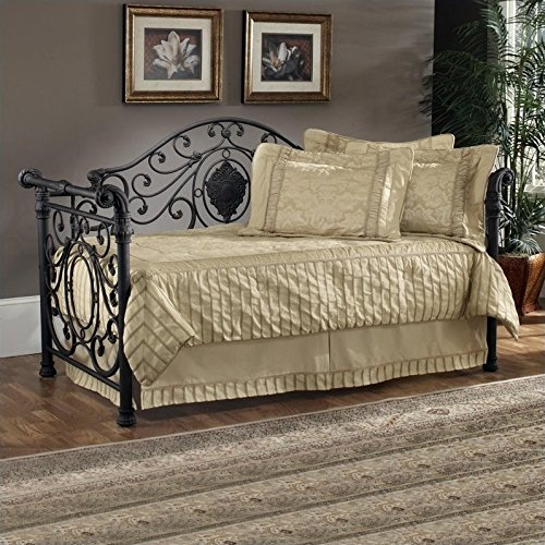 Hillsdale Furniture Mercer Metal Sleigh Daybed in Antique Brown