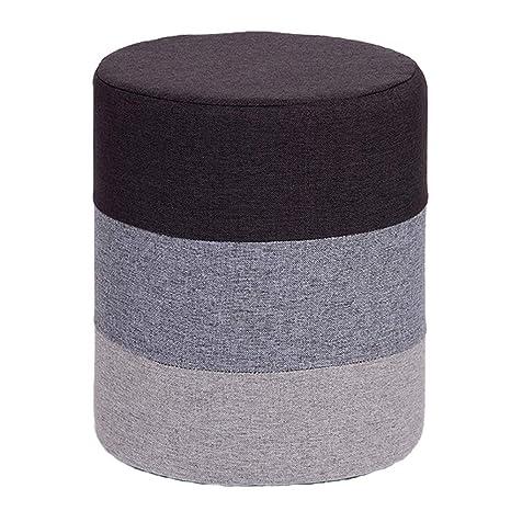 Amazon.com: Puf reposapiés redondo tapizado de terciopelo ...