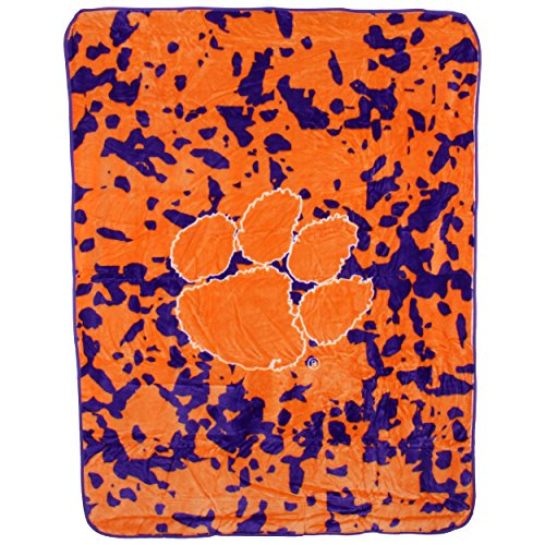 College Covers Clemson Tigers Throw Blanket/Bedspread Clemson Tigers Ncaa College Bedding