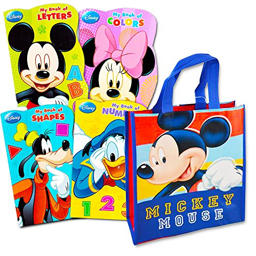 Disney Mickey Mouse Tote Bag with Mickey Mouse Board Book Set -