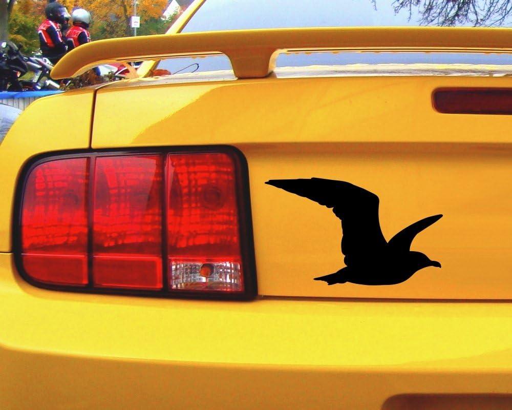 Samunshi Möwe Tier Aufkleber Autoaufkleber Sticker Für Auto Motorrad Wohnmobil Scheiben In 9 Größen Und 25 Farben 10x6cm Grau Küche Haushalt
