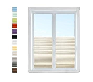 Klemmplissee Ausbrenner Klemmfix Tür Fenster Faltrollo Rollo Vorhang ohne Bohren