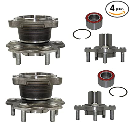 Detroit Axle - Front & Rear Wheel Bearing and Hub Assembly Set for 2002  2003 2004 2005 2006 Nissan Altima V6 3 5L w/ABS - [2002-2008 Nissan Maxima]
