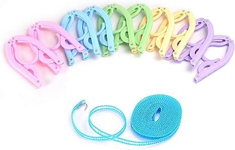 10 Stücke zusammenklappbare Kleiderbügel aus Kunststoff für Reise
