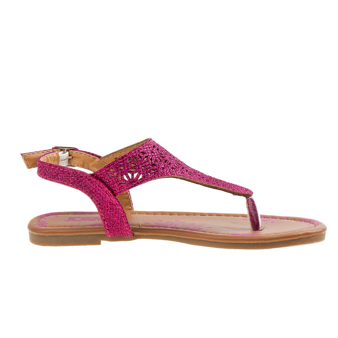 Josmo Girl's T-Strap Glitter Thong Sandals, Pink, 3 M US Big Kid' by Josmo (Image #4)