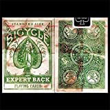 Bicycle Distressed Expert Back Green Playing Cards