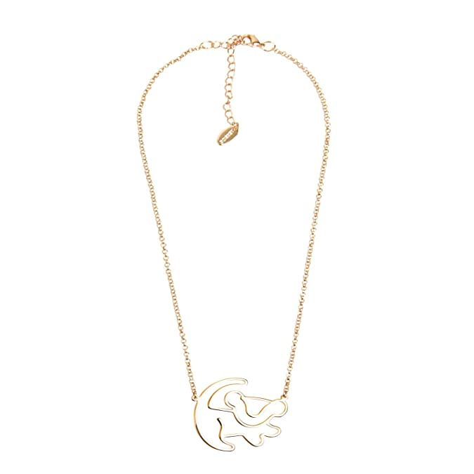 Disney Couture Classic Rose Gold-Plated Lion King Simba Outline Necklace