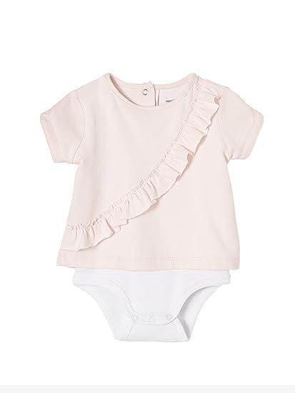 VERTBAUDET Lote de 2 camisetas bodies con volantes para recién nacido ROSA CLARO BICOLOR/MULTICOLOR 3M - 60CM