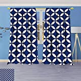 Best Eclipse Home Fashion Thermal Insulated Blackout Curtains Royal Blues - Philiphome Grommet Thermal Insulated Curtains,Circles with Overlapping Rounds Review