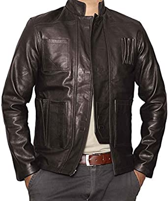 Han Solo Star Wars The Force Awakens Brown Real Leather Jacket ...