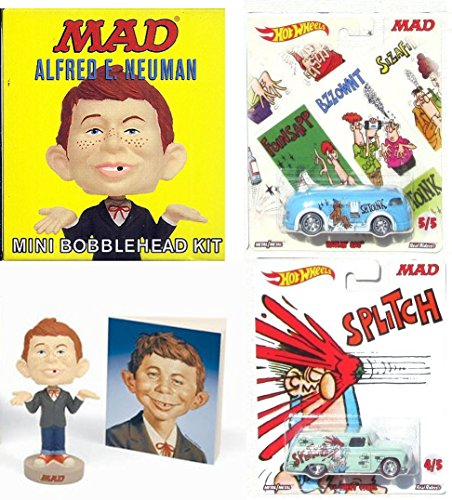 els & Cheap Bobble-Head of Alfred E. Neuman Mini Kit Garbage Pack Don Martin Bus & Delivery Van Pop Culture Cars 2017 What Me Worry? Collectibles (Face Bobble Head)