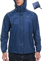 Men's Cycling Running Jacket Waterproof Raincoats Hooded Windbreaker Rain Jacket for