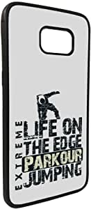 life on the edge jumpin Printed Case forGalaxy S7 Edge