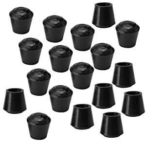 uxcell 18pcs Chair Leg Tips Caps 10mm 3/8 Inch Anti Slip Rubber Furniture Table Feet Cover Floor Protector Reduce Noise Prevent Scratches