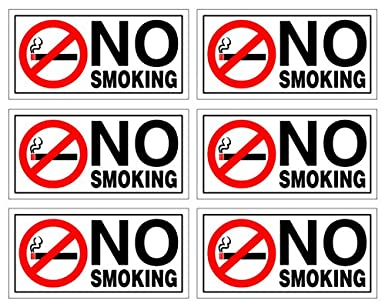 3 X No Smoking Sticker voiture taxi office Safety Warning Signs glass