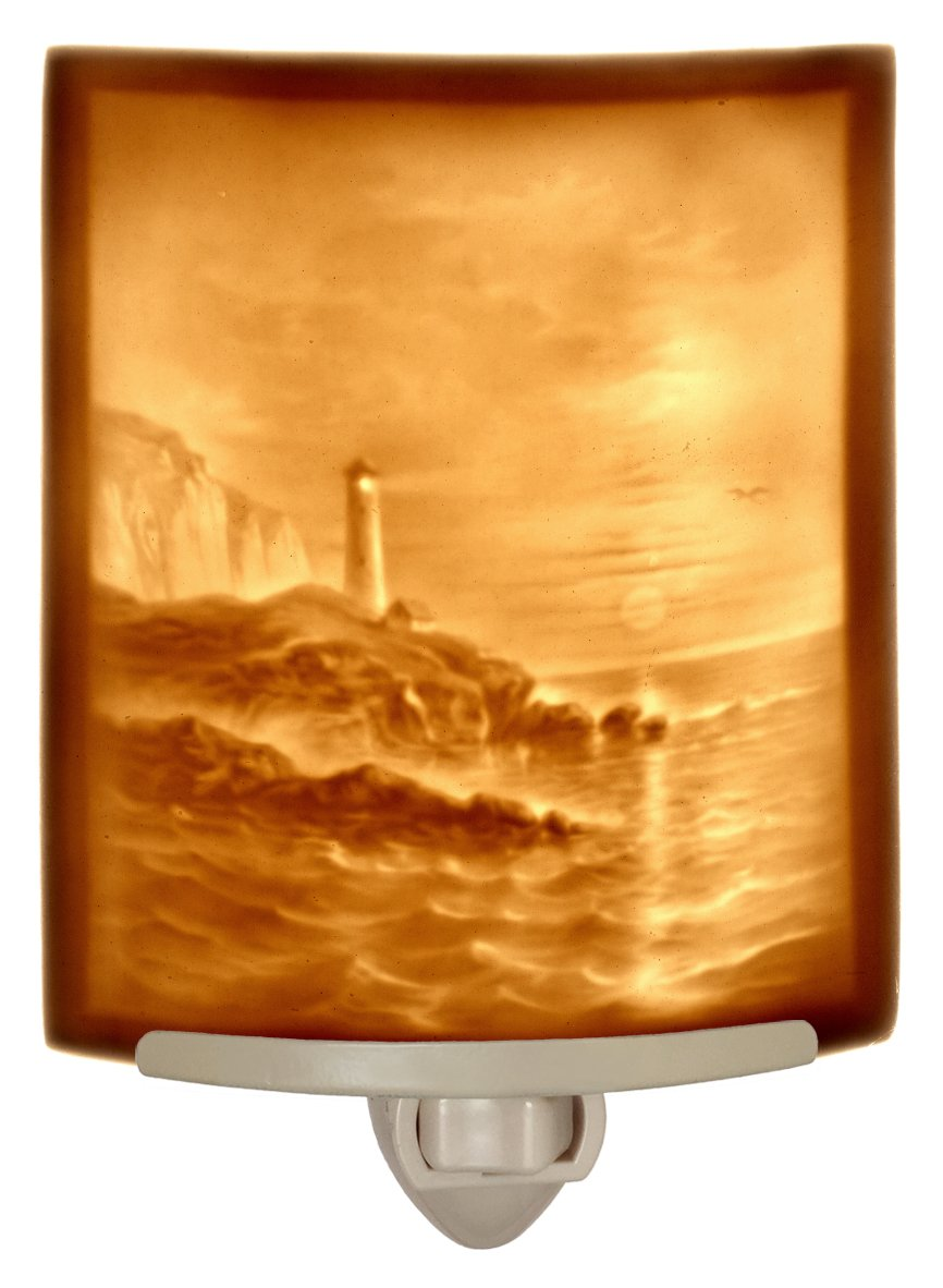灯台 – Curved磁器Lithophane Night Light B071YJ2H88