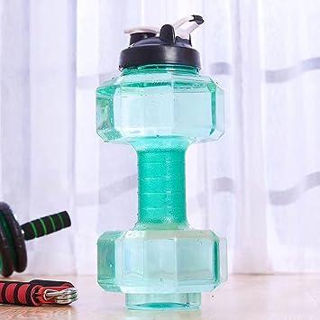 Botella de agua deportiva de 2,2 litros, extra grande, resistente a las
