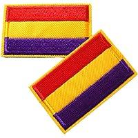 Parche 2 unidades Parches Termoadhesivo Bandera Republicana Sin