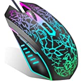 VersionTECH. Gaming Mouse Wired, Ergonomic USB Mouse Mice with RGB Backlit, 1200 to 3600 DPI for Laptop PC Computer…