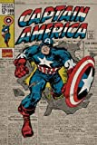 Captain America Poster, 61cm x 91.5cm Featuring The Cover Art Work From A Retro Edition Of The Superhero's Action Packed Comic Strip Adventures