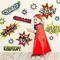 Kapow! Super Hero Wall Decal Kit - Comic Book Words Wall Decal By Chromantics