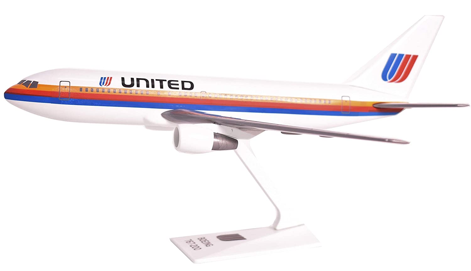 United 76-93 767-200 Airplane Miniature Model Plastic Snap-Fit 1:200 Part# ABO-76720H-002