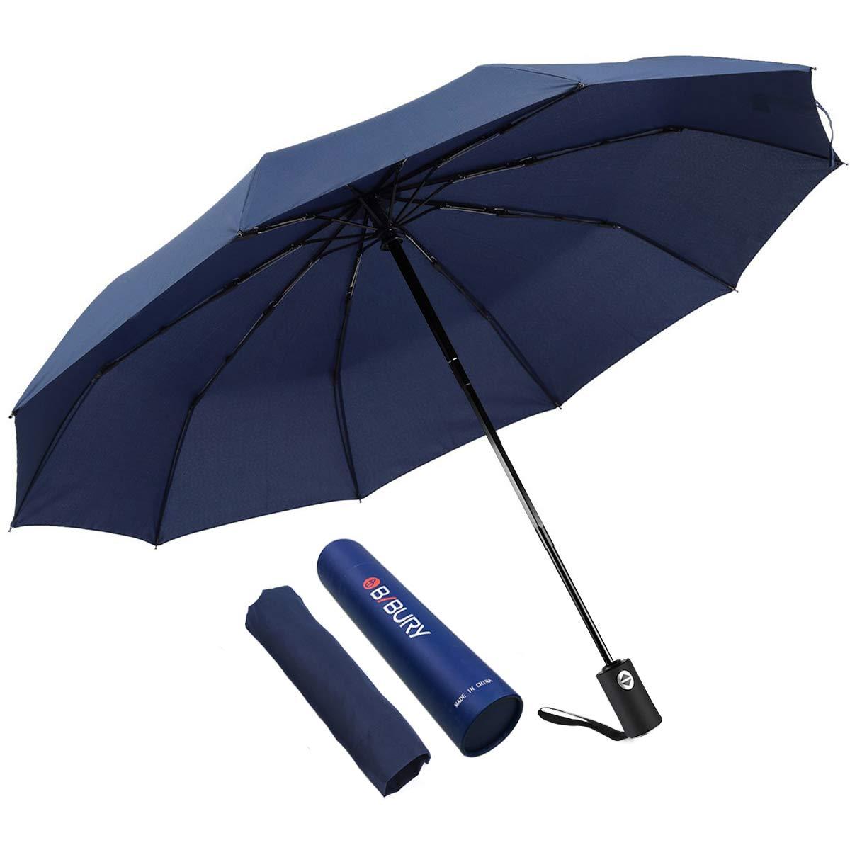 Bibury 傘 旅行 Lサイズ 太陽と雨 コンパクト 折りたたみ式 自動 軽量 210T 10リブ 55MPH 傘 レディース メンズ   B07RXTLCXL