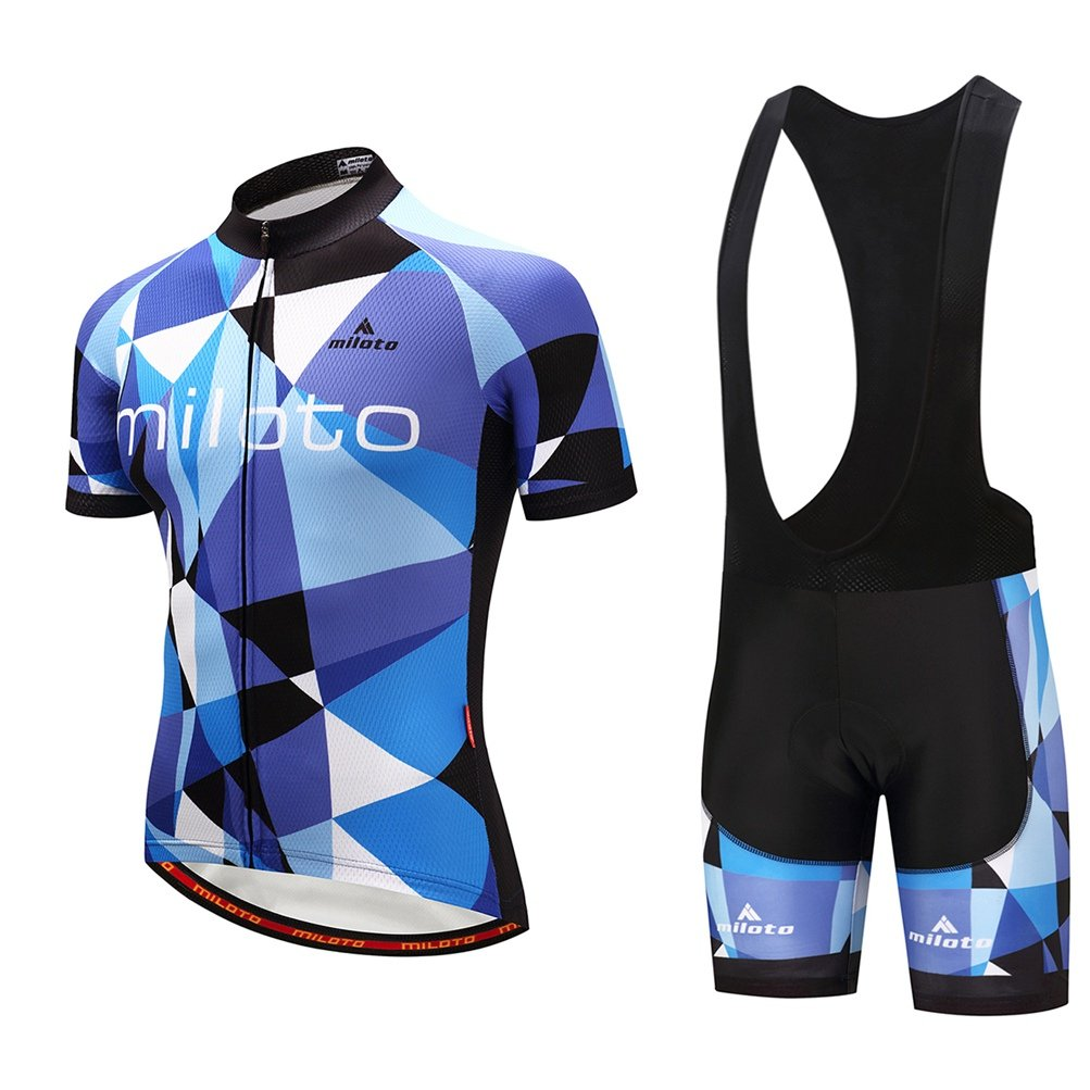 Uriahメンズ自転車ジャージブラックBib Shortsセット半袖通気性 B07BLTLZ46  Blue Space Chest 48''=Tag XXXL