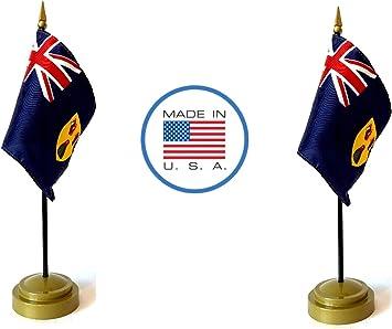 """Stick Flag /""""4x6/"""" Turks and Caicos Flag Turks and Caicos Desk Flag"""