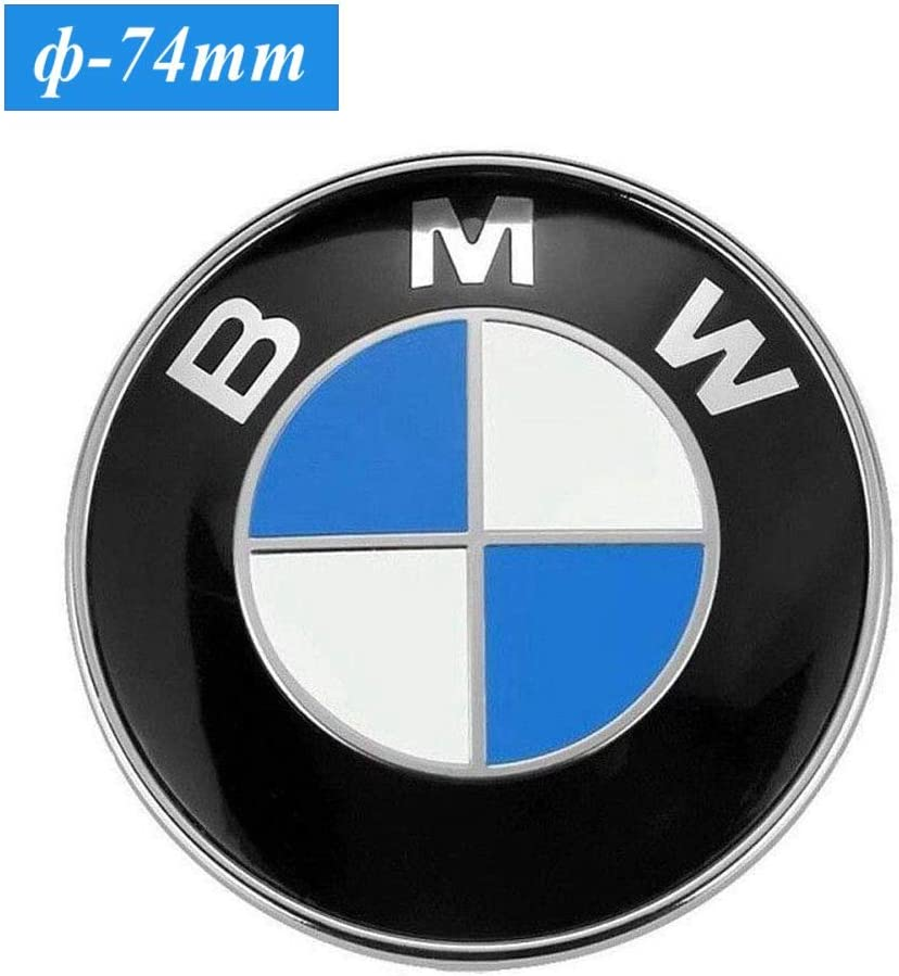 E46 E90 E82 3-Series 4-Series 74mm BMW Trunk Emblem M-Series 2 Pin Replacement Badge Hood or Trunk Logo Fit for BMW 2-Series