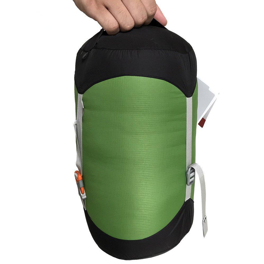 WIND HARD Compression Stuff Sack Waterproof Sleeping Bag Compression Stuff Sack Pack Storage Bags 5 Size (4.5L-14L) by WINDHARD (Image #3)