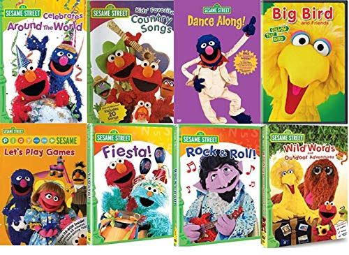 Sesame Street Collection - Sesame Street Celebrates Around the World/ Fiesta/ Rock and Roll/ Kids' Favorite Country Songs/ Dance Along/ Wild Words & Outdoor Adventures/ Big Bird And Friends/ Play With