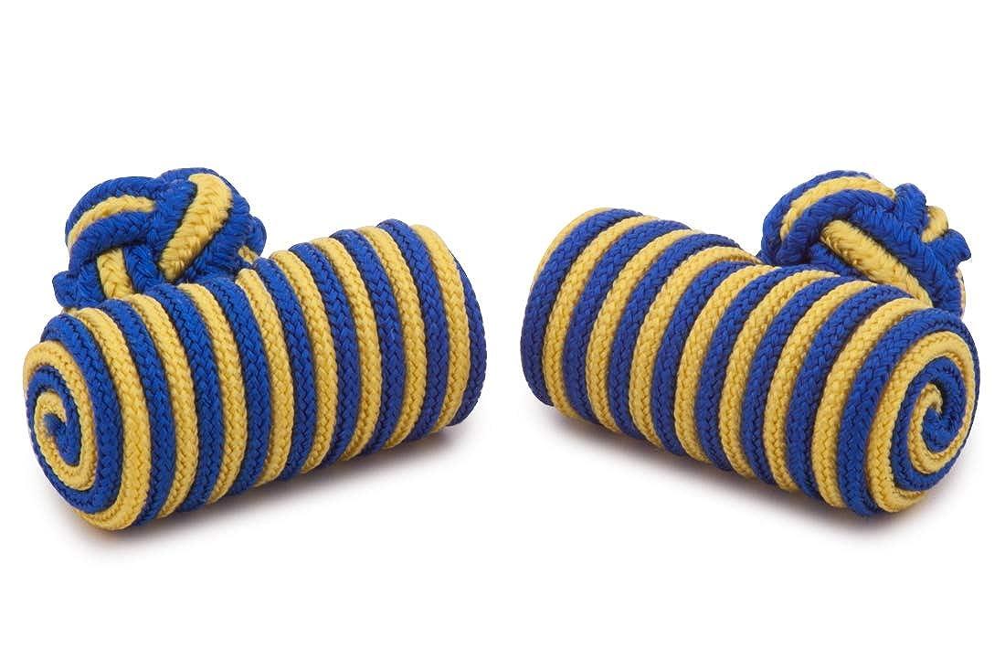 Sologemelos - Boutons De Manchette Baril Passementerie Bleu Jaune - Bleu, Jaune - Hommes - Taille Unique 181