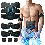 Stimulator Muscle Toner,AB Toner EMS Abs Trainer,IMATE Rechargeable AB Workout Fitness Massage Equipment for Abdomen/Arm/Leg Exercise,15 Levels of Intensity to Keep Your Shape.