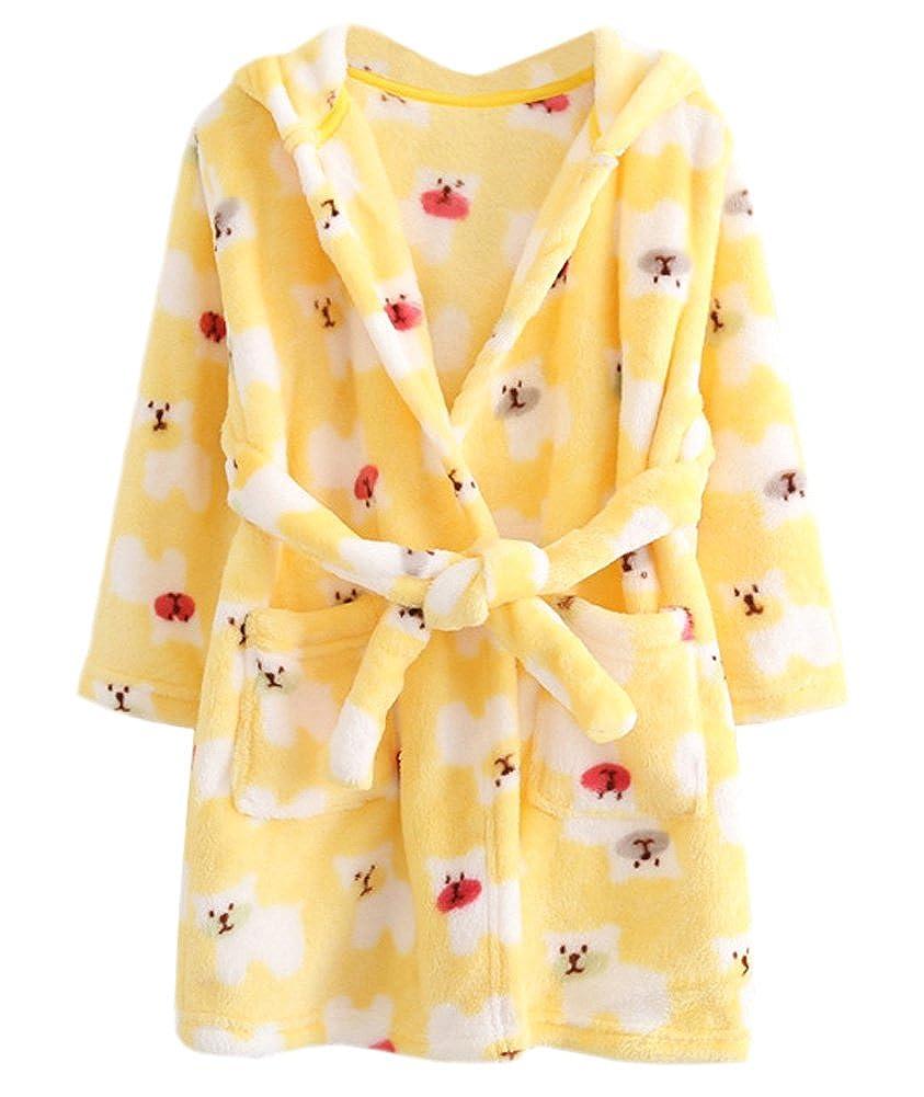 DELEY Unisexe Bébé Filles Garçons À Capuche Peignoir Robe De Chambre Enfants Vêtements De Nuit Chemise De Nuit Pyjama