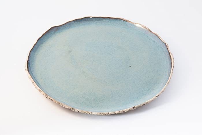 Blue dinnerplate Blue ceramic plate Handmade dinner plate stoneware plates Organic dinnerware & Amazon.com: Blue dinnerplate Blue ceramic plate Handmade dinner ...