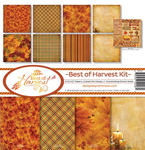 Reminisce Scrapbook Best of Harvest Collection Kit by Reminisce